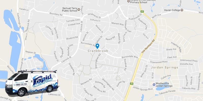 rapid plumbing group pty ltd services in cranebrook
