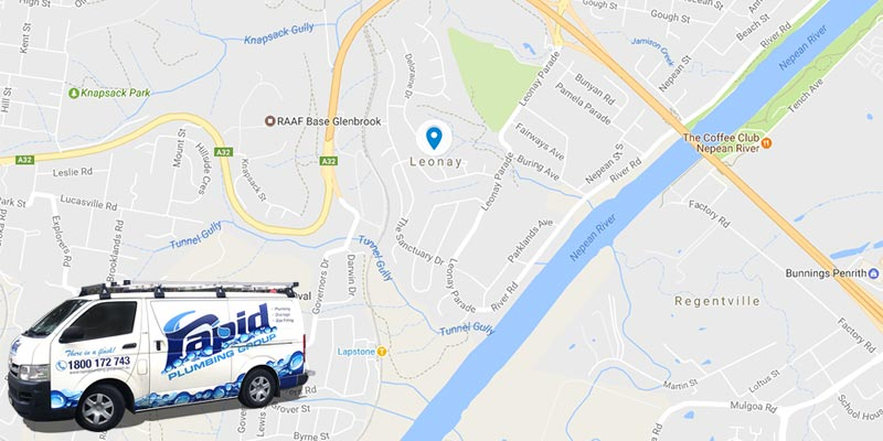 rapid plumbing group pty ltd services in leonay