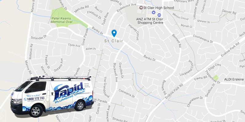 rapid plumbing group pty ltd services in st clair
