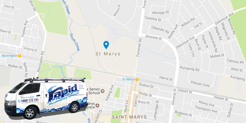rapid plumbing group pty ltd services in st marys